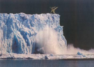 The Environment of Change is a series of collage works by Akane Takayama which considers the topic of global warming.