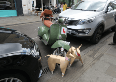 DOG and classic scooter