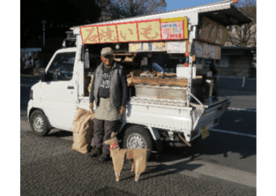 DOG and hot sweet potato van