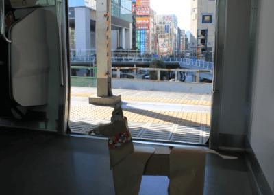 DOG getting off Tokyo subway