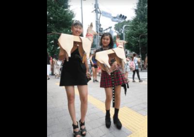 DOG with Harajuku girls