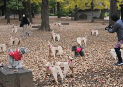 DOG dogs and Ueno Park Tokyo by Akane Takayama