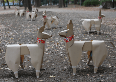 Two DOGs by Akane Takayama in Ueno Park Tokyo