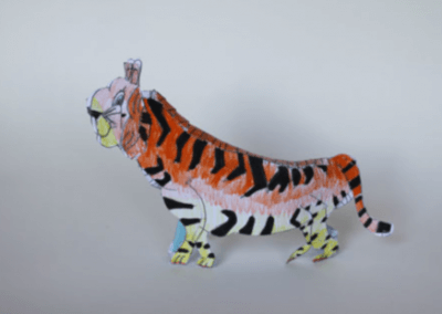 Tiger sculpture